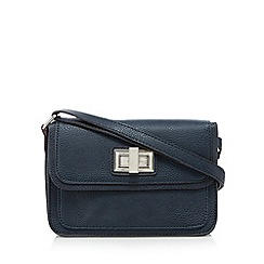 The Collection - Navy twist lock satchel