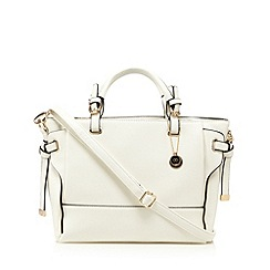 The Collection - White tie side tote bag