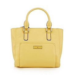 The Collection - Yellow enamel logo plate tote bag