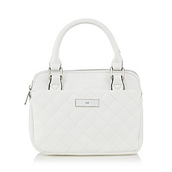The Collection - White quilted mini grab bag