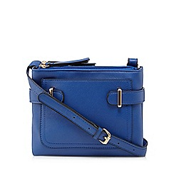 The Collection - Navy zip top cross body bag