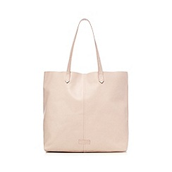 The Collection - Light pink leather shopper bag