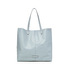 The Collection - Light blue leather shopper bag