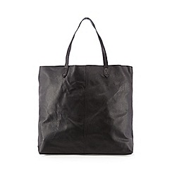 The Collection - Black unlined leather shopper bag