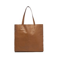 The Collection - Tan unlined leather shopper bag