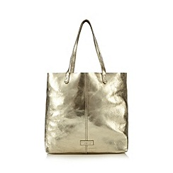 The Collection - Metallic leather shopper bag