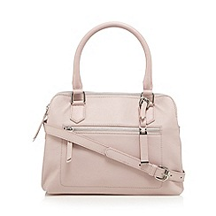 The Collection - Pale pink leather three compartment grab bag