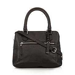 The Collection - Black leather three compartment grab bag