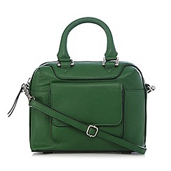 The Collection - Green mini leather grab bag