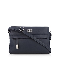The Collection - Navy leather cross body bag