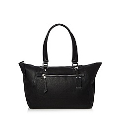 The Collection - Black leather zip front shoulder bag