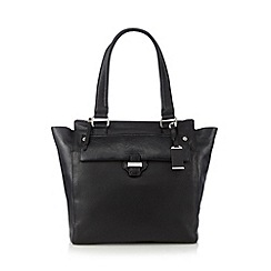 The Collection - Black leather keeper detail large tote bag