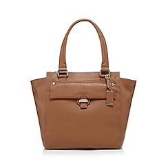 The Collection - Camel leather large tote bag