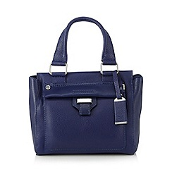 The Collection - Navy leather keeper detail mini grab bag