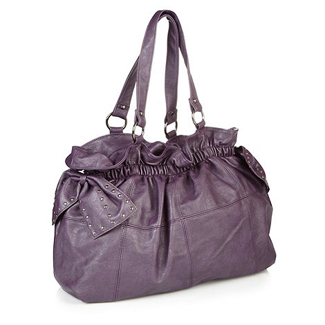 Red Herring - Purple +alicia+ bow bag