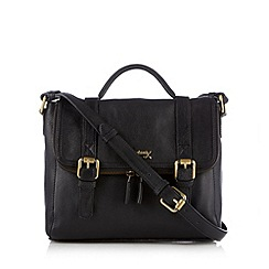Mantaray - Black fold over satchel bag