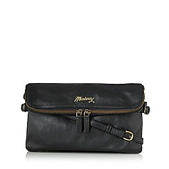 Mantaray - Black leather cross body bag