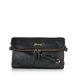 Mantaray - Black leather cross body bag