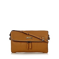 Mantaray - Tan leather fold over cross body bag
