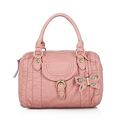 Mantaray - Light pink butterfly charm bowler bag