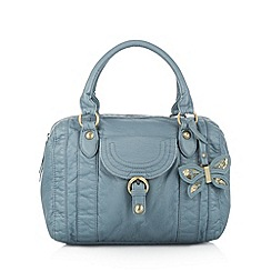 Mantaray - Light blue butterfly charm bowler bag
