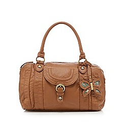 Mantaray - Tan butterfly charm bowler bag
