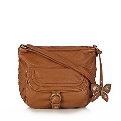 Mantaray - Tan butterfly cross body bag