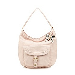 Mantaray - Pink butterfly charm shoulder bag