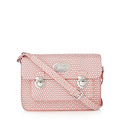 Mantaray - Pink butterfly printed mini satchel bag