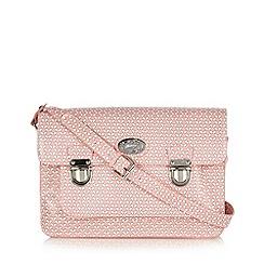 Mantaray - Pink butterfly printed satchel bag