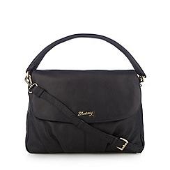 Mantaray - Black leather flap over shoulder bag