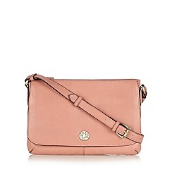 Mantaray - Pink leather cross body bag