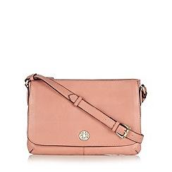 Mantaray - Pink leather cross body bag