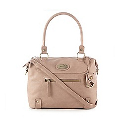 Mantaray - Light pink zip front large bowler bag