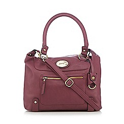 Mantaray - Dark pink zip front large bowler bag