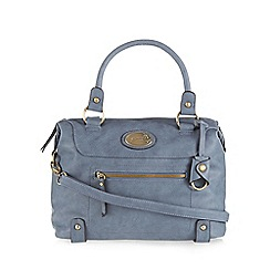 Mantaray - Blue front zip pocket bowler bag