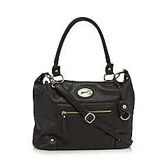 Mantaray - Black zip front large bowler bag