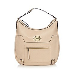 Mantaray - Cream front zip detail shoulder bag