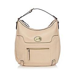 Mantaray - Cream front zip detail shoulder bag