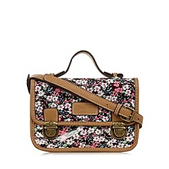 Mantaray - Pink floral coated canvas mini satchel bag