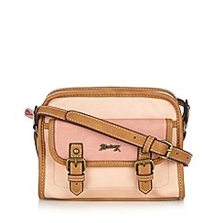 Mantaray - Pink double buckle cross body bag