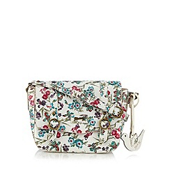 Mantaray - White floral print satchel bag