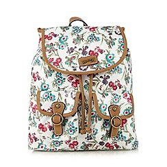 Mantaray - White floral print backpack