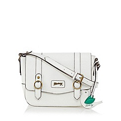 Mantaray - White bird charm satchel bag