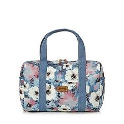 Mantaray - Blue floral denim weekender bag