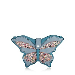Mantaray - Blue butterfly floral cross body bag