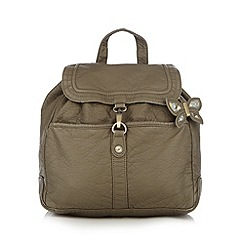 Mantaray - Khaki butterfly charm washed backpack