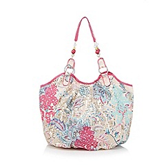 Mantaray - Pink floral sequin lace grab bag