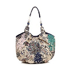 Mantaray - Blue floral print bag