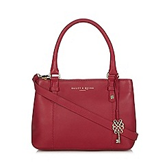 Bailey & Quinn - Dark pink 'Delphine' small leather grab bag